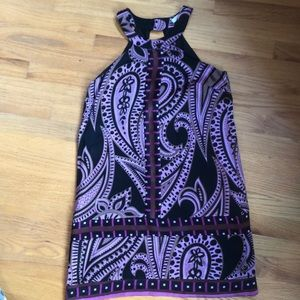 Purple/Black Paisley Silk Alice & Tricia dress
